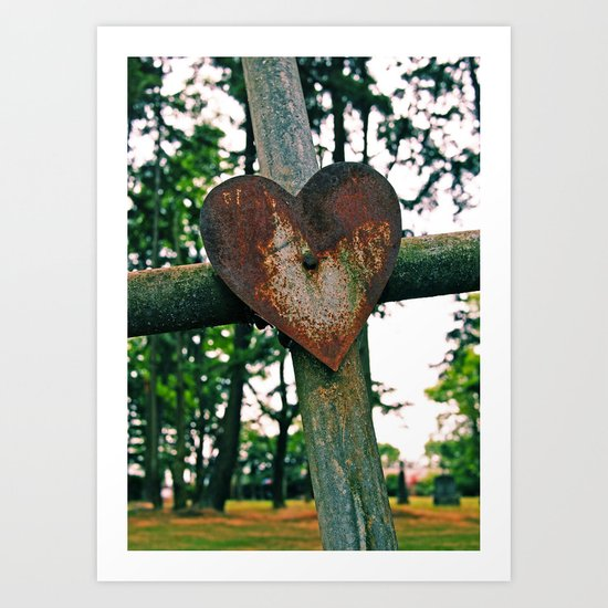 Cemetery love Art Print