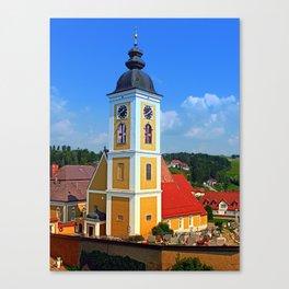 The village church of Niederwaldkirchen II   architectural photography Canvas Print