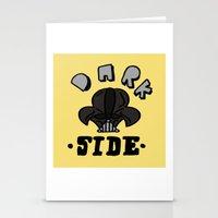 dark side Stationery Cards featuring dark side by benjamin chaubard