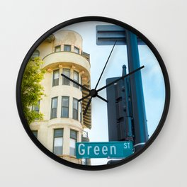 Street photography Green street Wall Clock