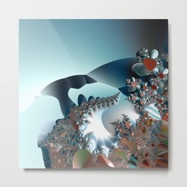 On the Edge of a Fantasy Landscape -- fractal art by Twigisle at Society6 Metal Print