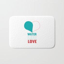 water life love.   Bath Mat