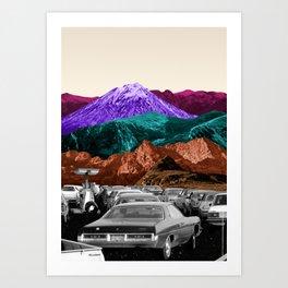 Run by dreams not petrol Art Print