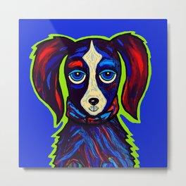 Blueish Dog Metal Print