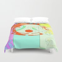 splash Duvet Covers featuring Splash by Iconic Arts