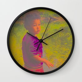 She Listens At Golden River And Feels An Overseeing Power Wall Clock