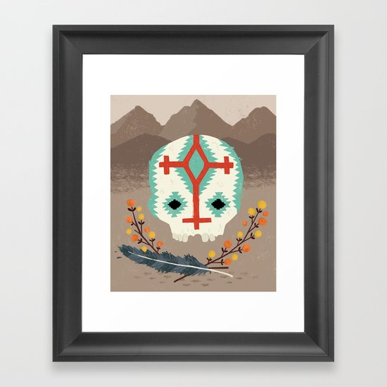 Desert Skull Framed Art Print