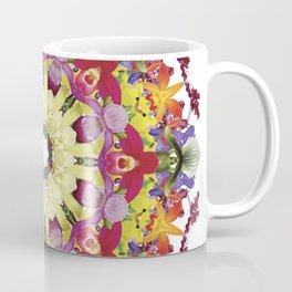 Abundantly colorful orchid mandala 1 Coffee Mug