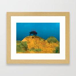 Bizon vert Framed Art Print