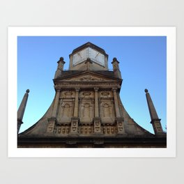 Sundial at Gonville & Caius College, Cambridge (UK) Art Print