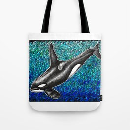 Orca killer whale and ocean Tote Bag