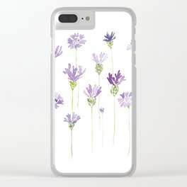 Blue cornflowers (flowers) Clear iPhone Case