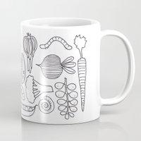 vegetables Mugs featuring Vegetables by Eva Shorey