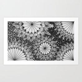Zen Snow Art Print