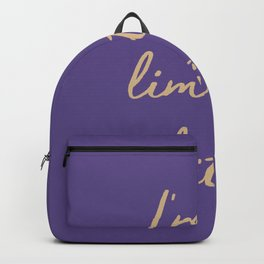 I'm a limited edition word on violet Backpack