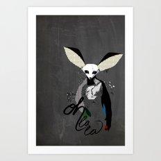 Oh la la - fennec fox Art Print