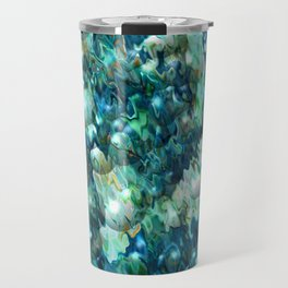 Blue Christmas Abstract Travel Mug