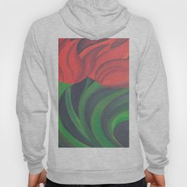 Red Tulip Diptych Hoody