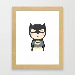 Bat-kid Framed Art Print