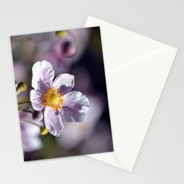 Pretty in White and Purple Stationery Cards
