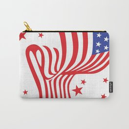 AMERICAN FLAG  & RED STARS JULY 4TH ART Carry-All Pouch