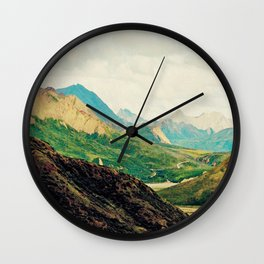 Denali Mountains Wall Clock