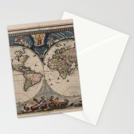 Vintage World Map - Terrarum Orbis Tabula 1664 Stationery Cards