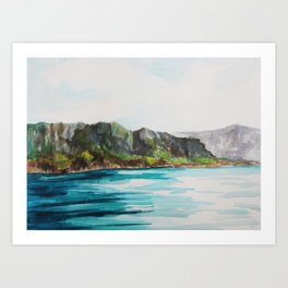 Napali Coast Dreaming Art Print
