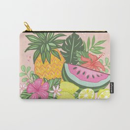 Tropical Summer Cluster Carry-All Pouch