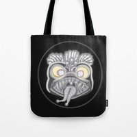 panic at the disco Tote Bags featuring Panic by Conceptualized