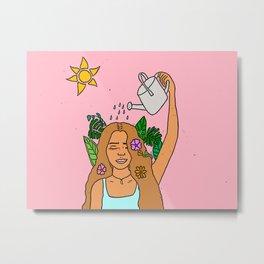grow pink Metal Print