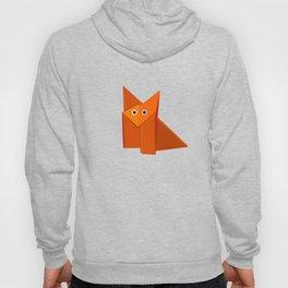 Dark Geometric Cute Origami Fox Hoody