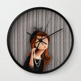 Mme Noir Wall Clock