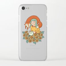 The friendly fox Clear iPhone Case