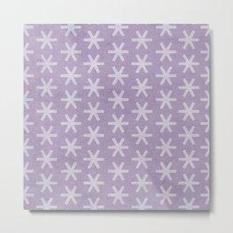 Asterisk Small - Lavender Metal Print