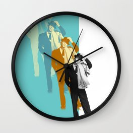Frank Steps Out Again Wall Clock