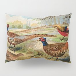 Vintage Pheasants Pillow Sham