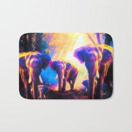 Elephants Family Bath Mat