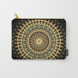 Black Gold Mandala Carry-All Pouch