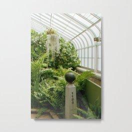 Green Globe Metal Print