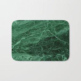 Dark emerald marble texture Bath Mat