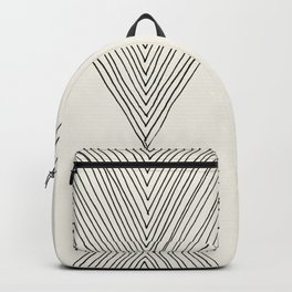 Minimalist Boho Triangles Backpack