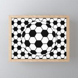 Black and White 3D Ball pattern deign Framed Mini Art Print