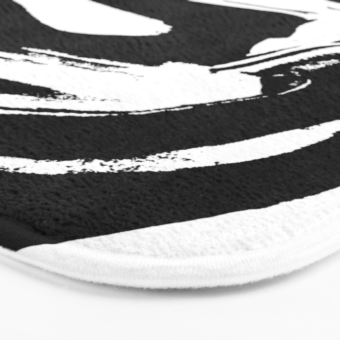 World's Threshold Black and White Marbling, Marbles Lost Bath Mat
