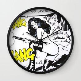 Bang Bang Bastards Wall Clock