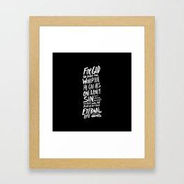 John 3:16 II Framed Art Print
