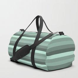 Stripes in Green Duffle Bag