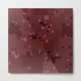 Apple Butter Square Pixel Color Accent Metal Print