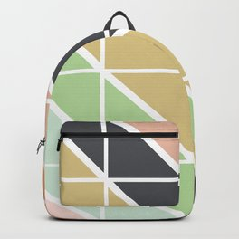 Retro Geometric Triangle Pattern Backpack