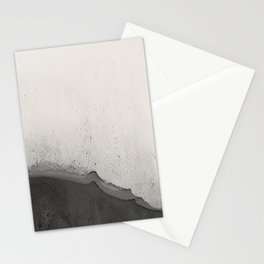 Abstract black watercolor 2 Stationery Cards